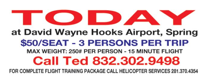 Greater Houston Helicopter Flights or Tours Promotion